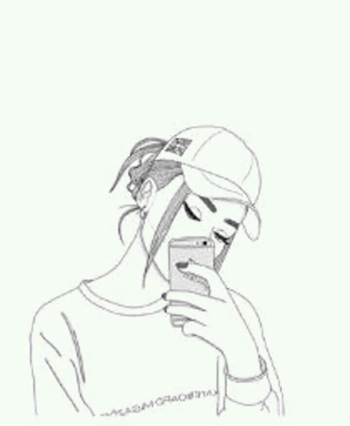 pin de celine pt em • drawing •  menina tumblr desenho
