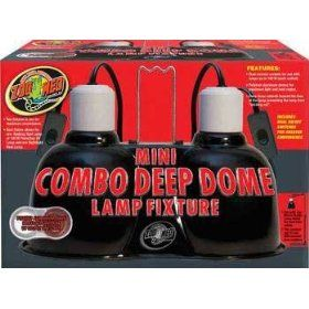 Zoo Med Mini Combo Deep Dome Lamp Fixture, Black Mond