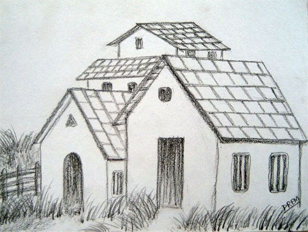 Easy landscape drawings pencil