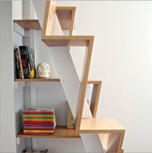 Alternating Stair Tread/storage Shelving. Cool Idea? Oh Heck Yes. Meet Ohio  Residential Building Code? Not So Much.