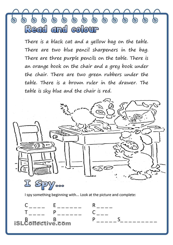 Worksheets I Spy Worksheets read colour i spy esl pinterest worksheets and reading spy