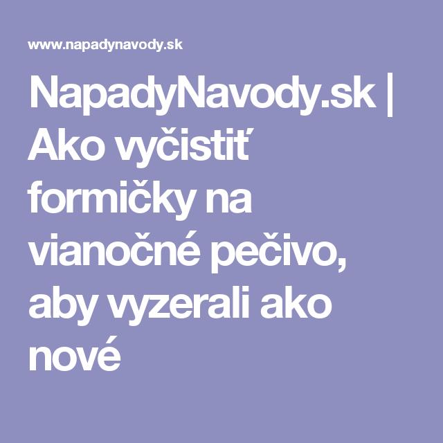 NapadyNavody.sk | Ako vyčistiť formičky na vianočné pečivo, aby vyzerali ako nové