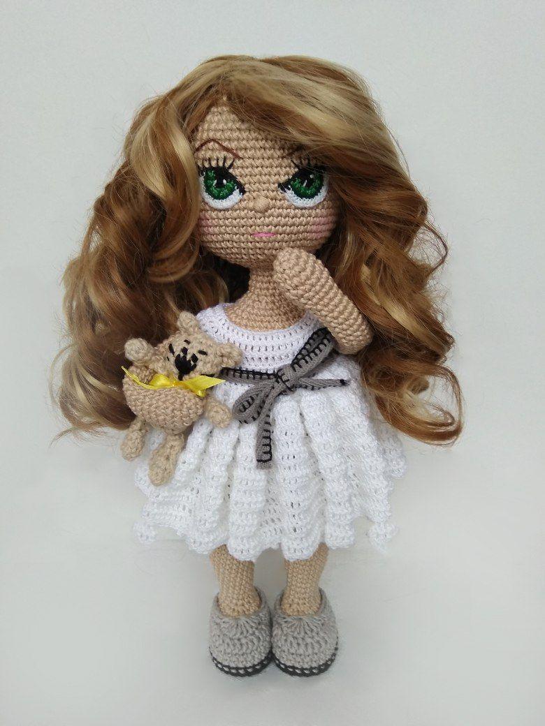 Tutorial de cabelo cacheado para boneca de crochê – Bonek de Crochê | 1040x780