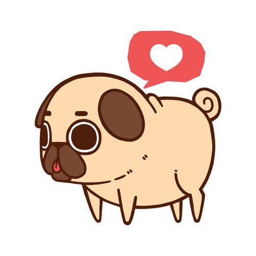 Puglie Heart For Sale Dibujos Kawaii Perros Tiernos Dibujos