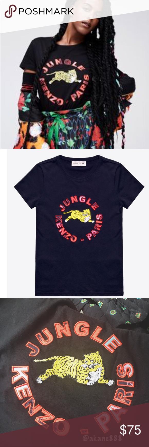 3b785368 Kenzo x H&M T-Shirt Brand new with tag Kenzo x H&M T-shirt in black ...
