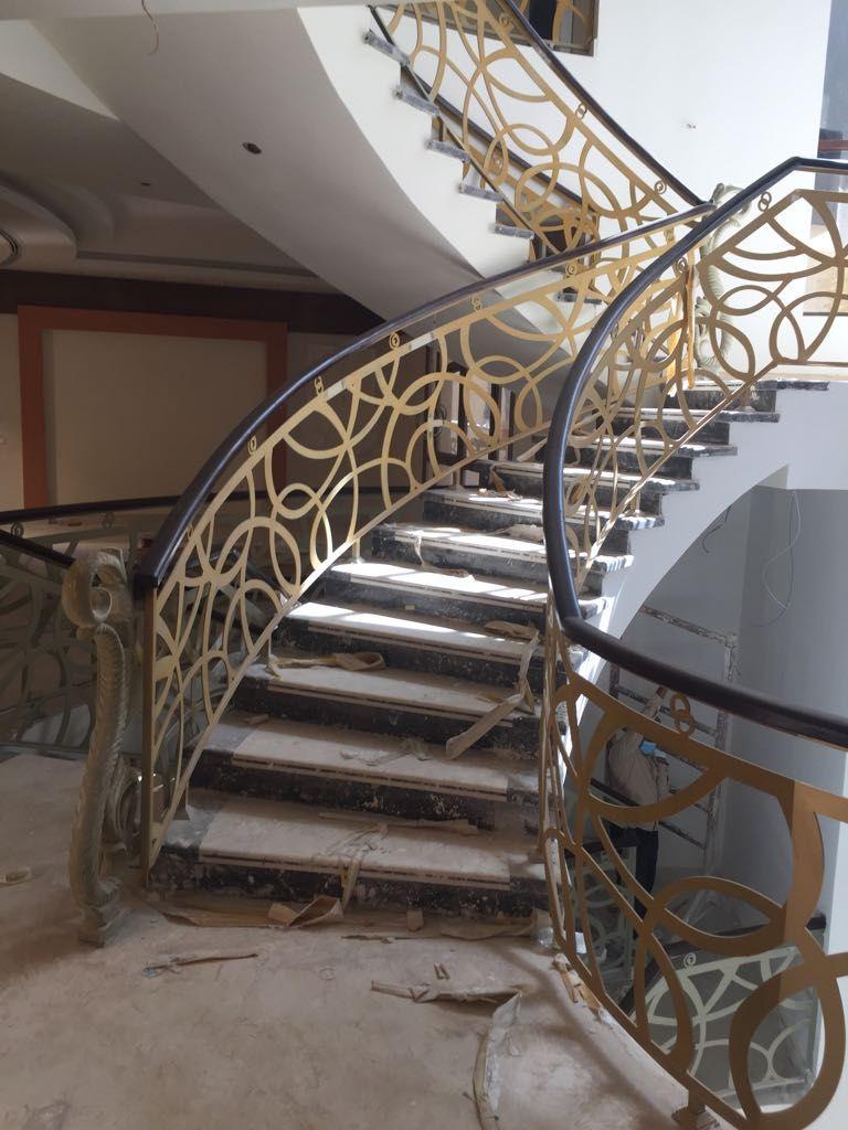 Door Metaldoor Creativemetals Saudiarabia Riyadh Laser Cnc Outdoor Stairs Metal Stairs Stairs Luxury Staircase