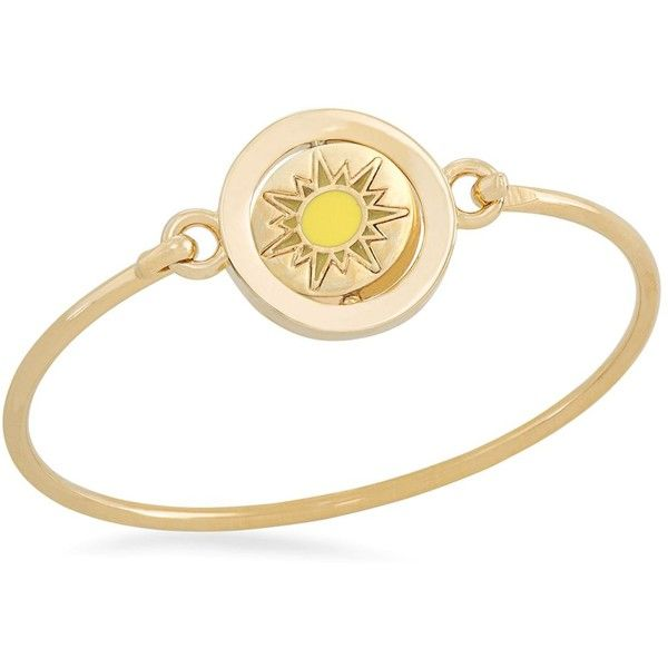 Carolee You Are My Sunshine Word Play Double Take Bangle ($62) ❤ liked on Polyvore featuring jewelry, bracelets, bracelet jewelry, bracelets & bangles, carolee bracelet, hinged bracelet and hinged bangle bracelet