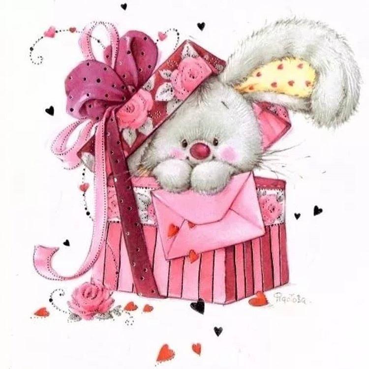 С днем рождения милые открытки девочке
