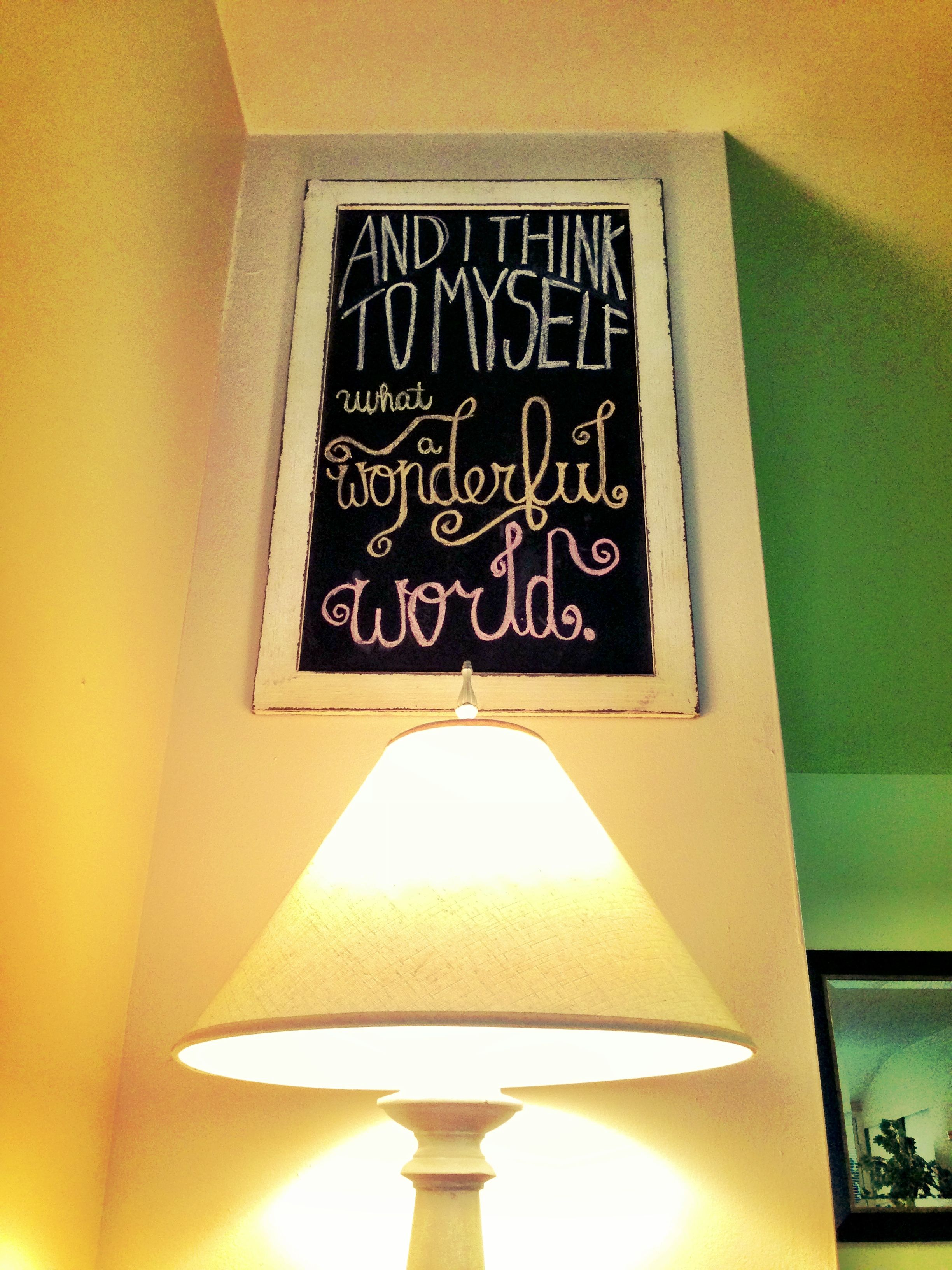 Chalkboard art...you can change the quote whenever you get bored ...