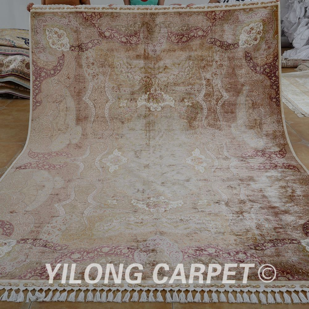 Turkish Silk Carpet Quality Directly From China Rug Suppliers Yilong Handmade Double Knots Antique Coffee