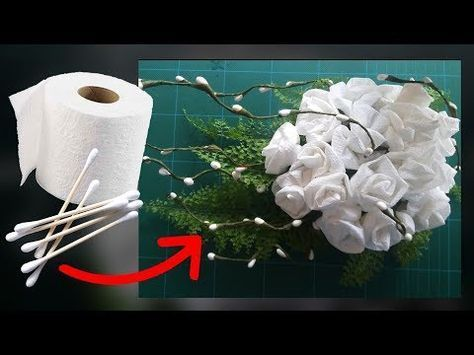 Cotton buds and toilet paper flower youtube uncinetto cotton buds and toilet paper flower youtube mightylinksfo