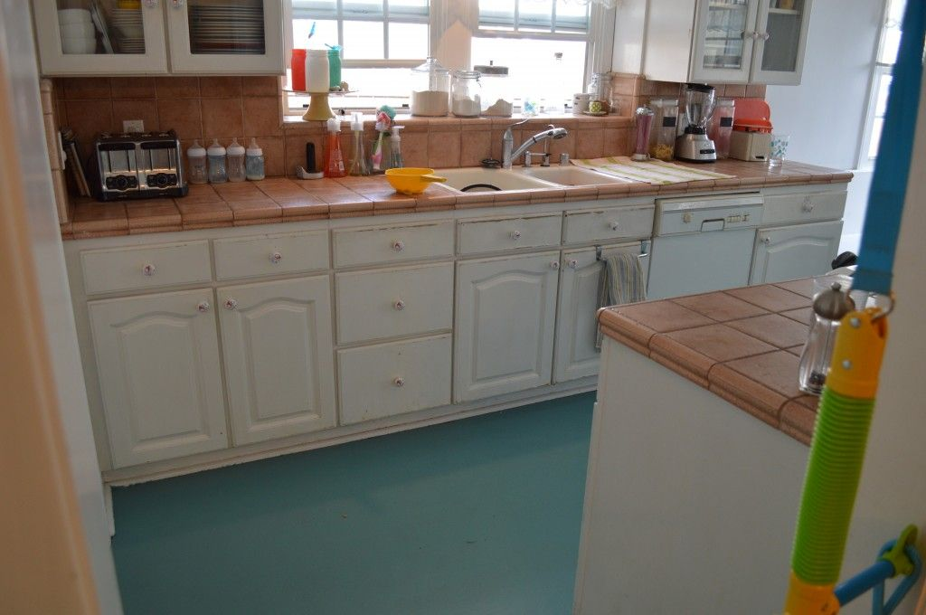 Linoleum Kitchen Flooring Ideas Part - 31: Did You Know You CAN Paint A Linoleum Floor