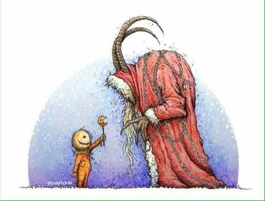 Pin By Gary Flagler On Wallpapers Tags More Christmas Horror Creepy Christmas Christmas Art