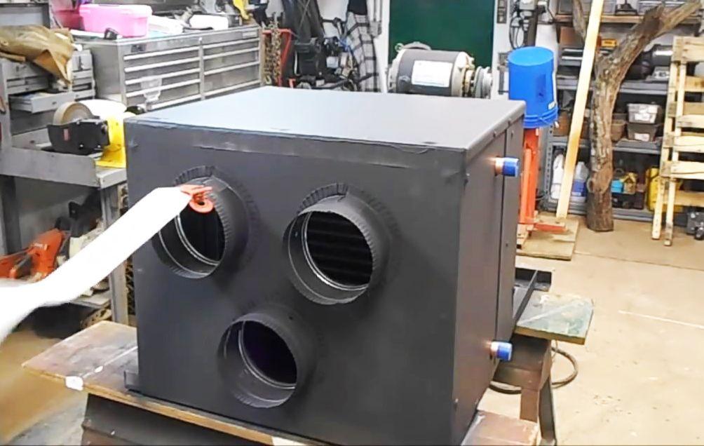 Watch the DIY Homemade Garage Heat Exchanger Build Video