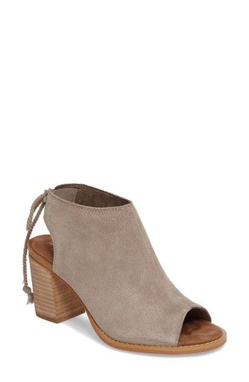 88a754a3c1b Free shipping and returns on TOMS Elba Peep-Toe Bootie (Women) at  Nordstrom.com. A stacked leather-wrapped heel grounds a suede peep-toe  bootie designed ...
