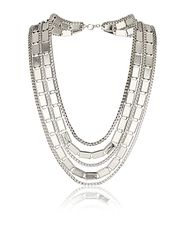 Multiple Short Chain Neckwear Silver 99 DKK