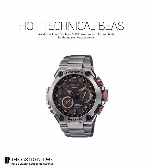 #NewsOfTheDay An all New Casio G-Shock MR-G stuns us with