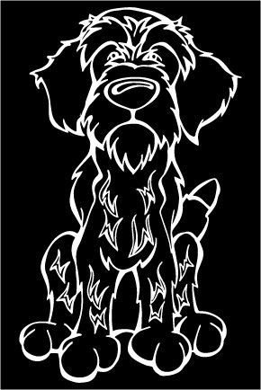 2f16bcf06d26a Wirehaired Pointing Griffon Decal Dog | man's best friend ...