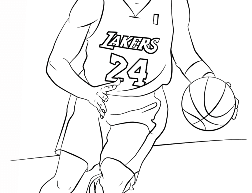 Kobe Bryant Coloring Page Free Printable Coloring Pages Sports Kobe Bryant Coloring Page Nba Players Basketball Pictu Coloring Pages Drawing Clipart Drawings