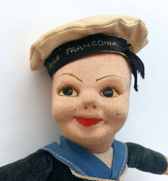 Cloth Doll Norah Wellings Sailor Doll 1940s Cruise Ship