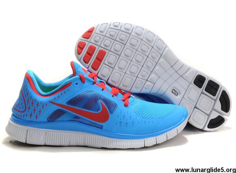 Nike Free Run 3 Université De Lueur Bleue 5s Rouge