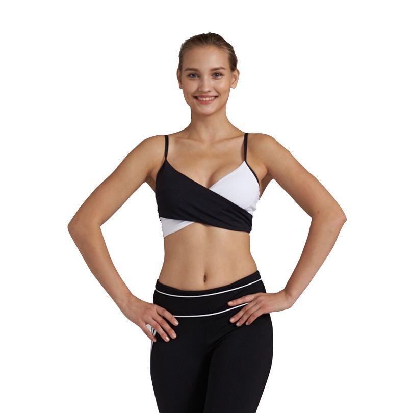 Syprem Push Up Sports Bra Female Shockproof Wireless Fitness Bra Yoga Tops With Chest Pad Women Gym Gather Bras,1FT0874