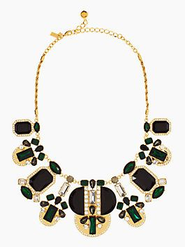 art deco gems statement necklace // kate spade