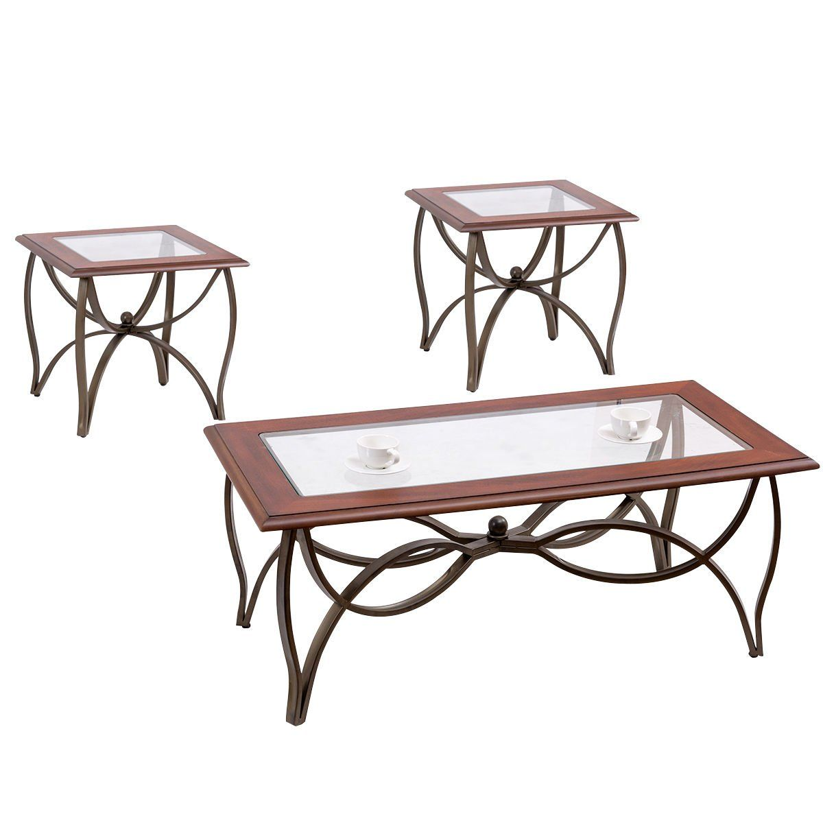 Tangkula Glass Coffee Table Set Occasional Cocktail Table Set Glass Top Coffee Table And 2 End Table Coffee Table Setting End Table Sets Glass Top Coffee Table [ 1200 x 1200 Pixel ]