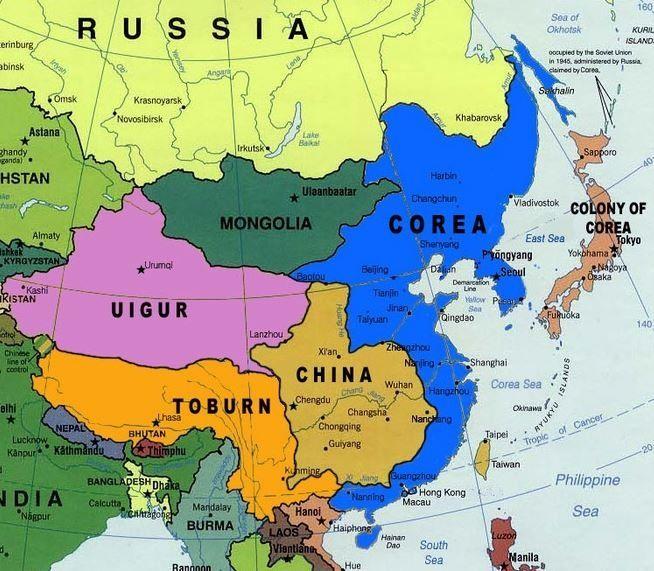 意味がわからない朝鮮の地図www...