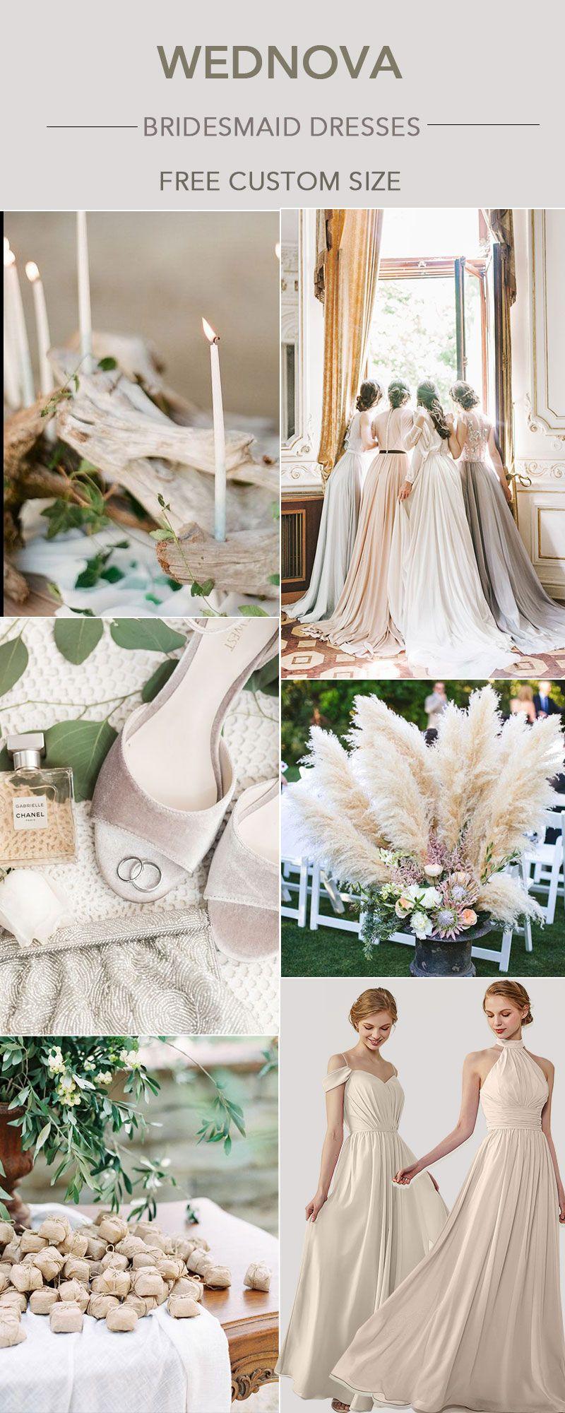 unique chiffon bridesmaid dress halter dress neutral for best