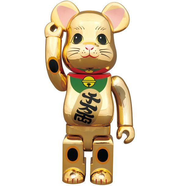 Medicom 400/% Bearbrick ~ SKy Tree Lucky Cat Be@rbrick Gold Version 6
