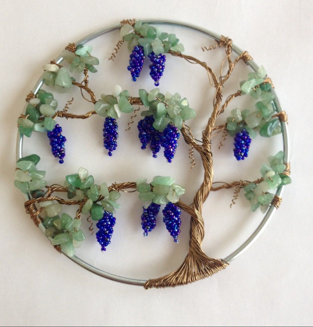A personal favorite from my Etsy shop https://www.etsy.com/listing/215739421/5-grape-vine-wall-hanging-wall-art