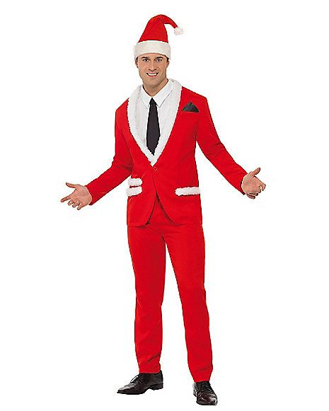 Santa Cool Suit Adult Costume - Spirithalloween.com