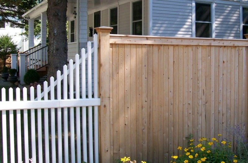 Transition 6 Foot Tongue And Groove Fence To 4 Foot Picket Fence Installed By A Anastasio Fence Company Picket Fence Fence Fencing Companies