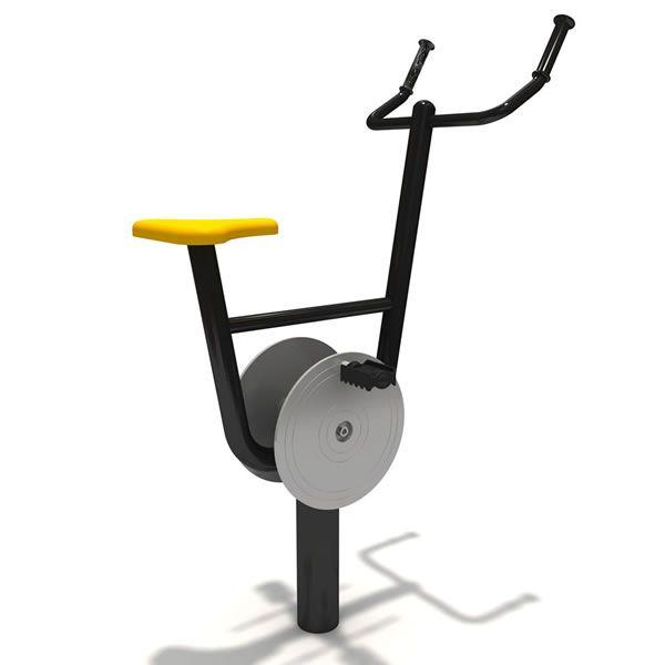 bicicleta estática gimnasio urbano