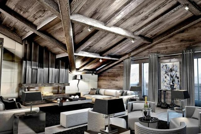 Plush Chalet Brickell In The Rhône Alpes, France 4 | * Interiors /  Интериори | Pinterest | Contemporary And House