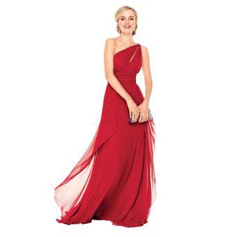 Color crimson bridesmaid dresses