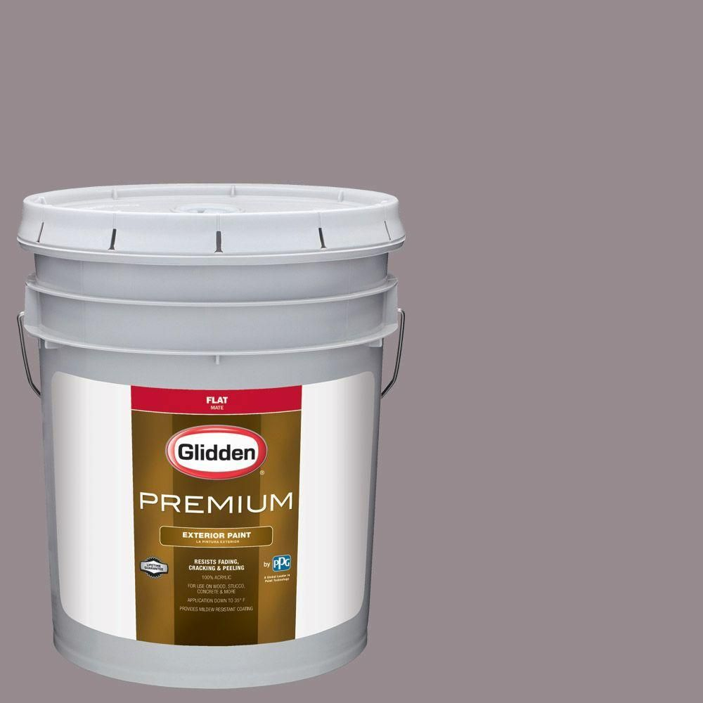 Glidden Premium 5-gal. #HDGCN58D Greyed Rose Quartz Flat Latex Exterior Paint