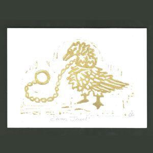 Lino Print Cards - Jewellery Handprinted jewellery design Cards. Designed and lino printed by Cressida Lowry.