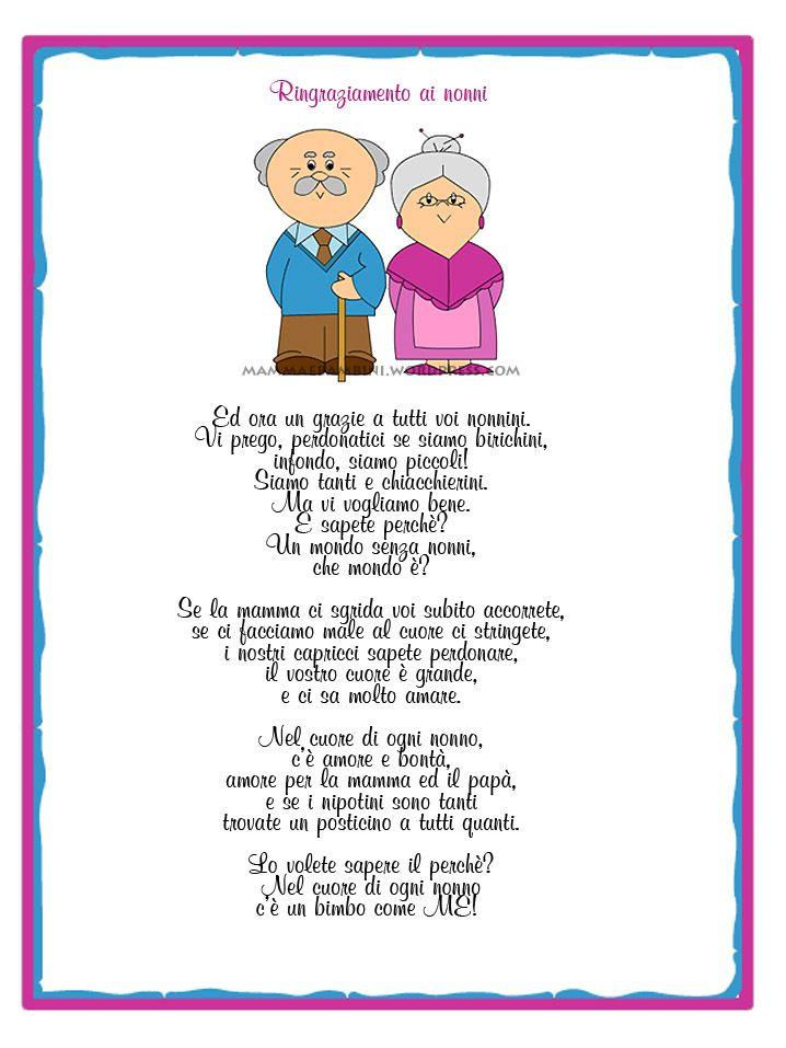 Lettera Anniversario Di Matrimonio Nonni.Poesia Nonni Con Attestato Nonni Festa Dei Nonni Filastrocche