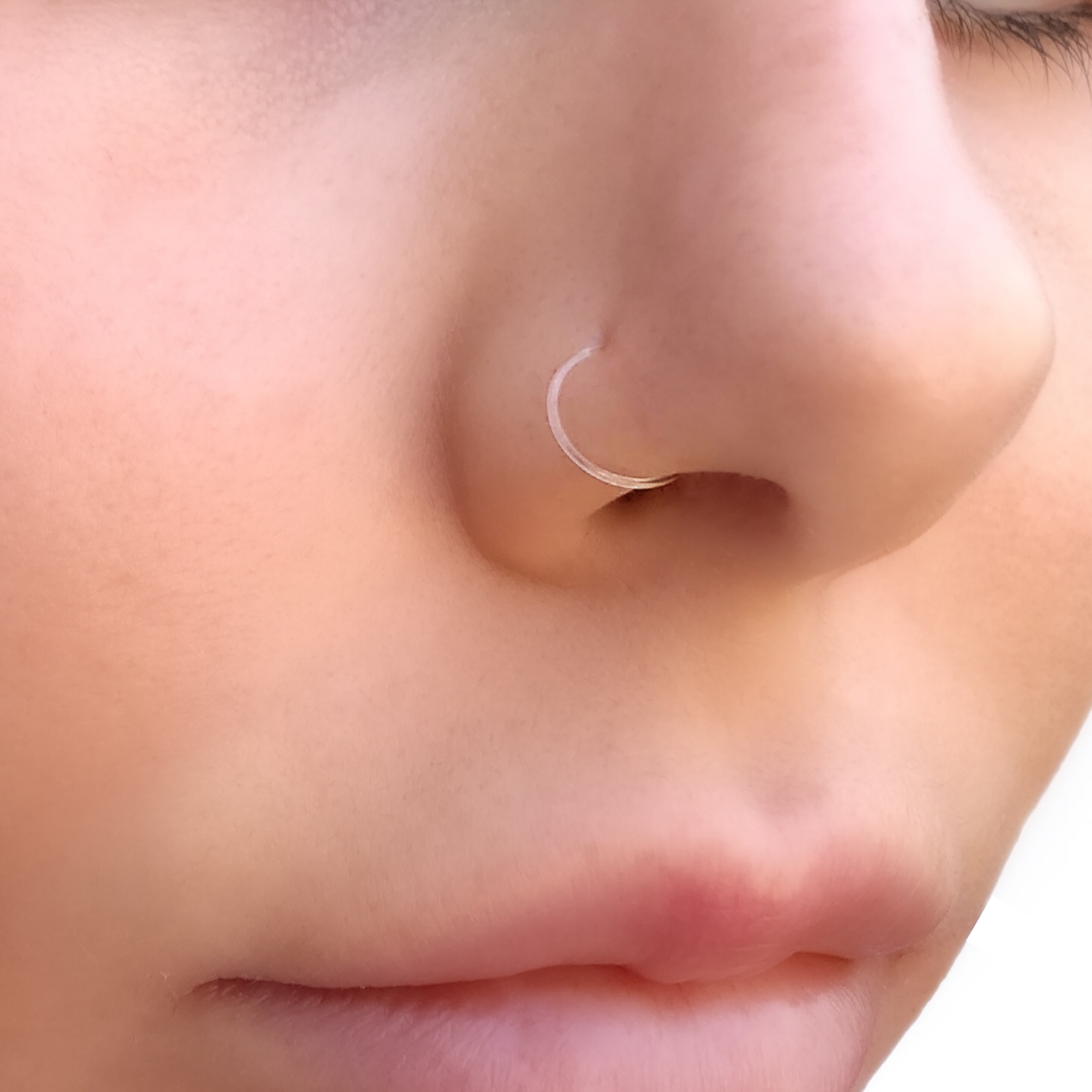 Clear Nose Ring Retainer Septum Ring Bioflex Clear Nose Stud
