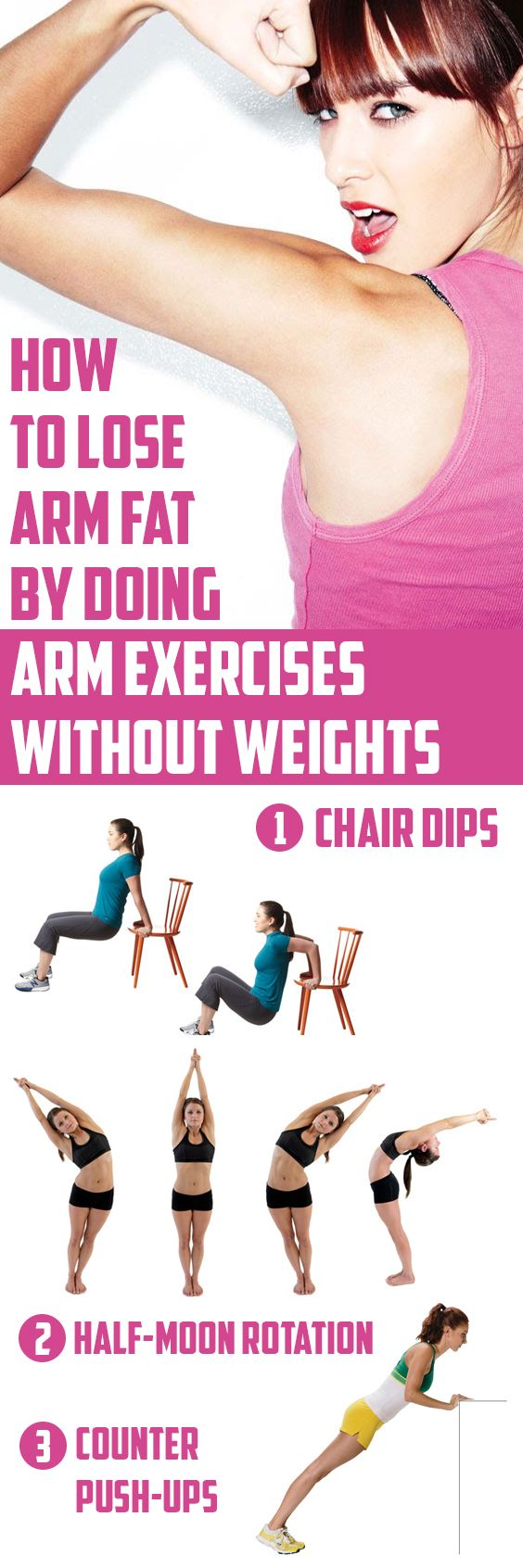 How To Lose Arm Fat By Doing Exercises Without Weights