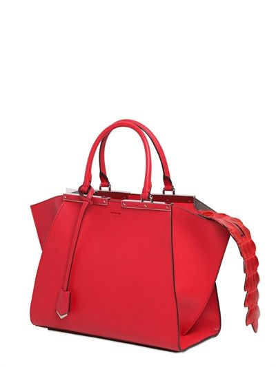 2da29b23b1 Fendi Red with Croc Tail 3Jours Mini Bag