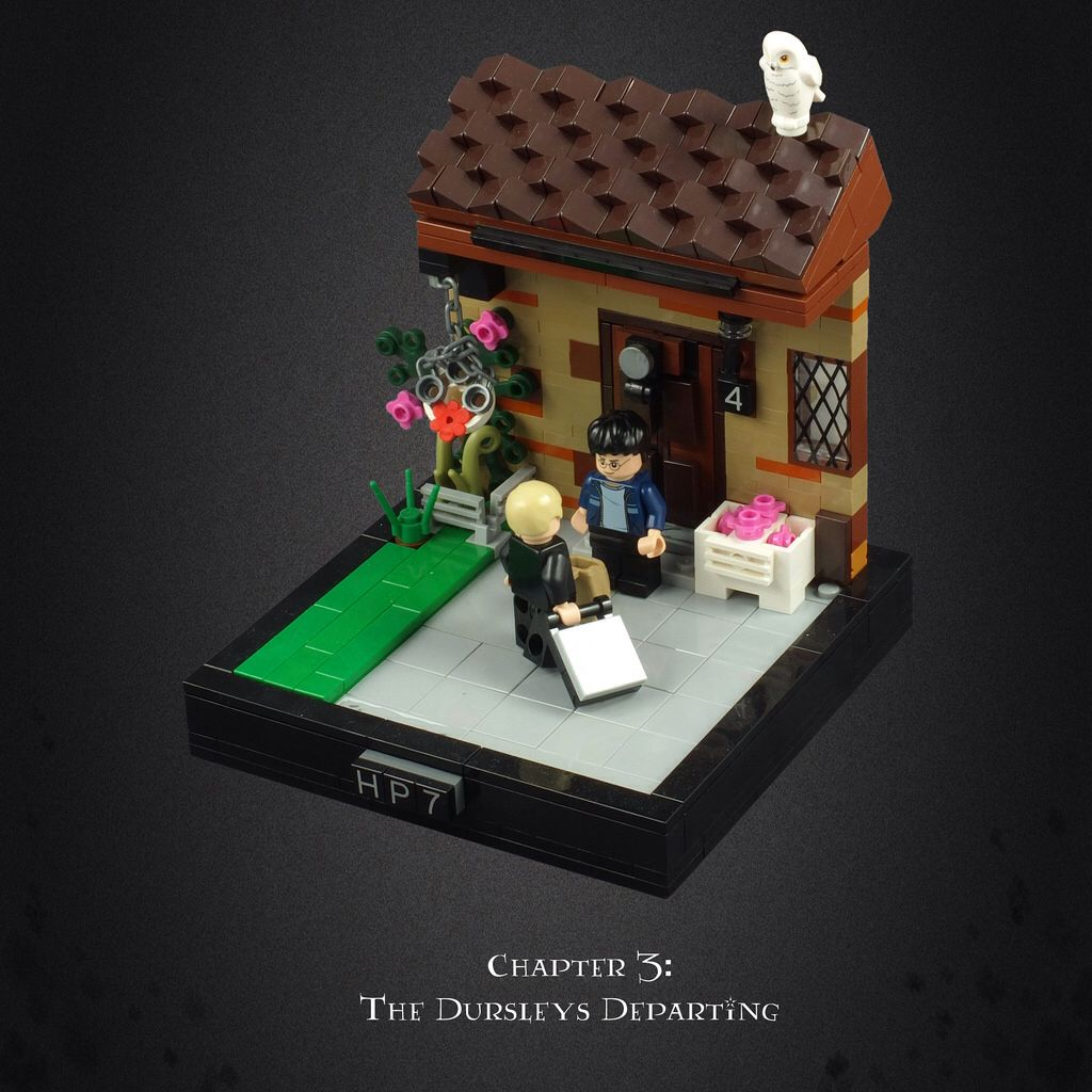 Harry Potter And The Deathly Hallows 01 The Dursleys Departing Lego Harry Potter Lego Harry Potter Moc Harry Potter Lego Sets
