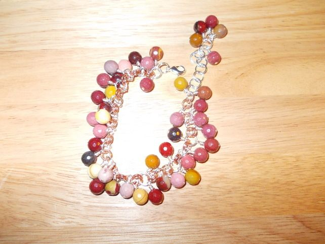 Autumn berry chainmaille charm bracelet £10.00