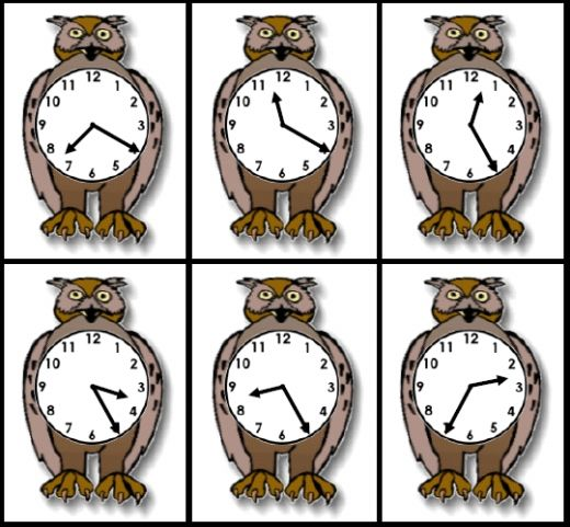 FREE and easy to download: Owl Time printable activity set with 108 cards and a customizable owl clocks worksheet!