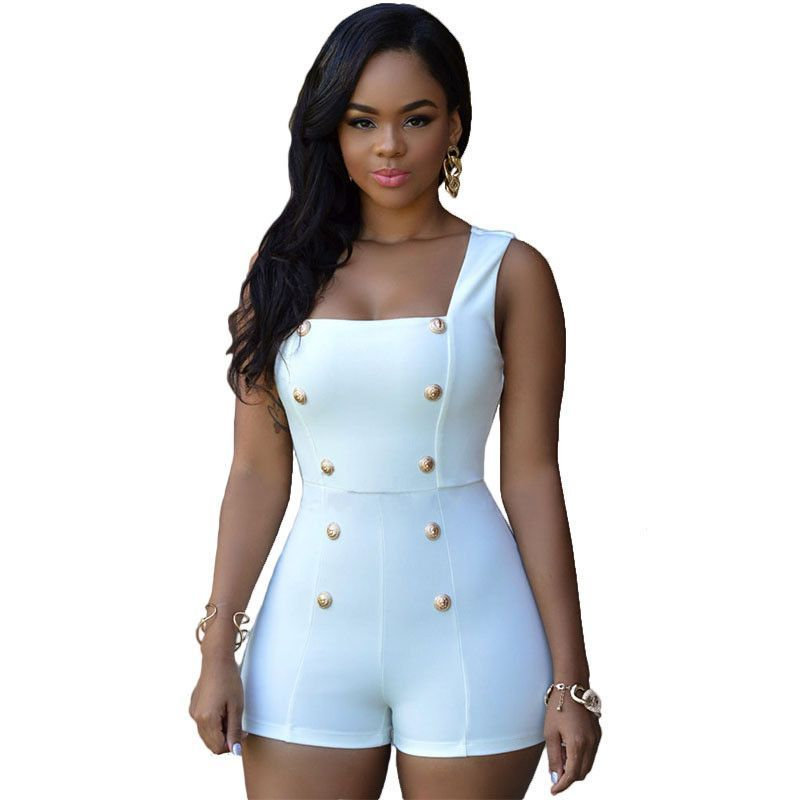 e809bc16bdc9 Women Sexy Black Rompers Short Jumpsuits White Bodysuits Monos Womens  Overalls Bodycon Playsuits Ladies One Piece Romper