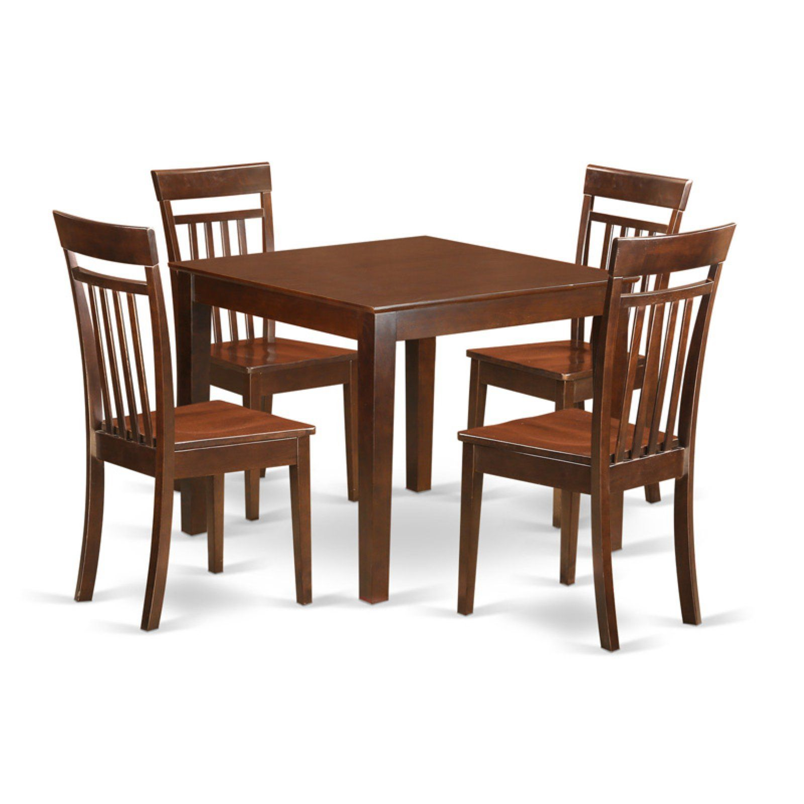 East West Furniture 5 Piece Sheraton Modern Square Dinette Dining