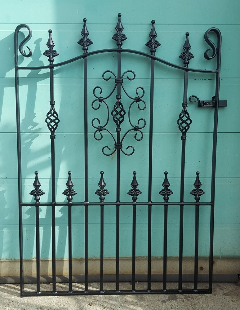 Details About Wrought Iron Metal Garden Gate Gates Top Quality
