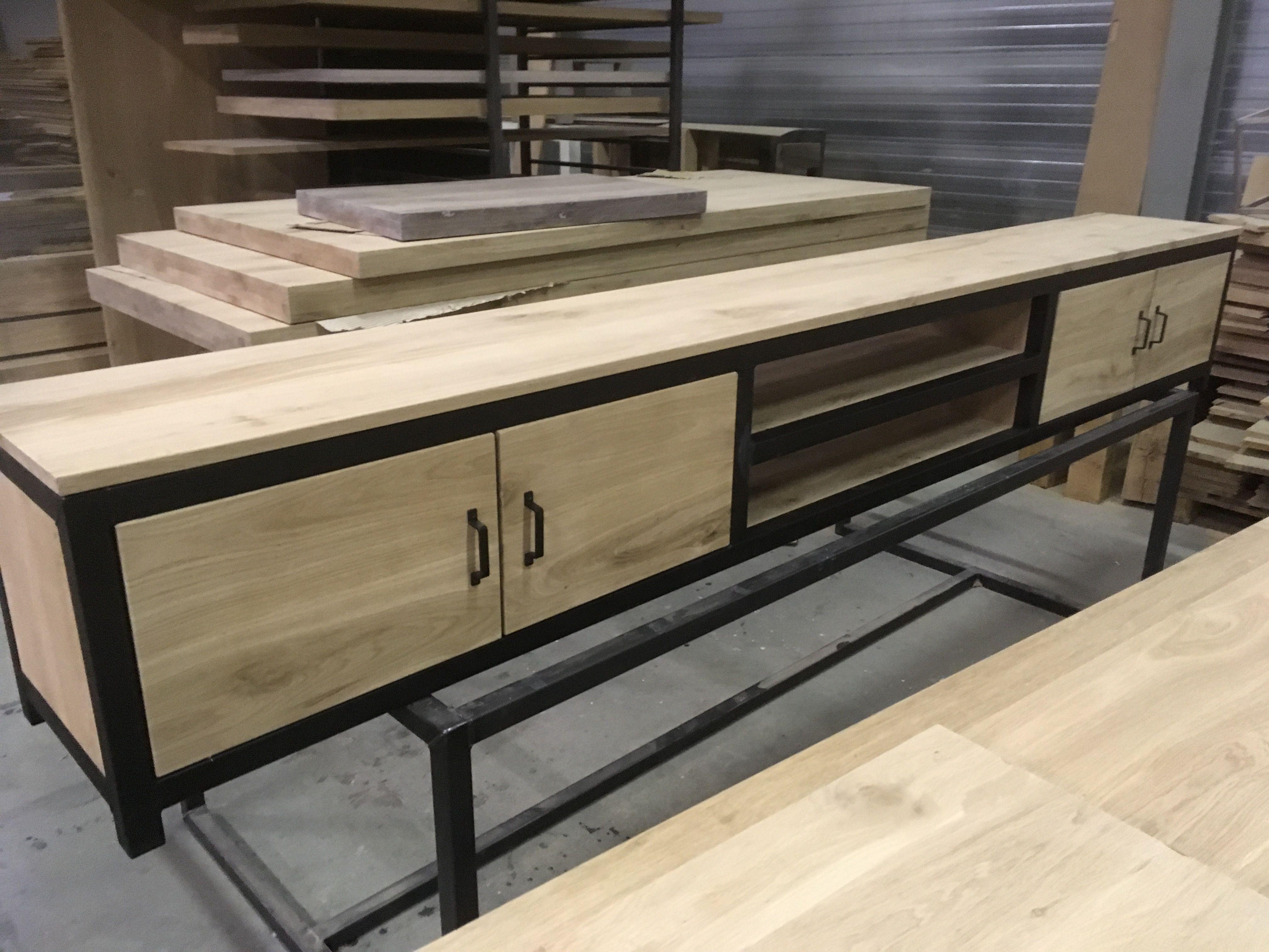 Www Meubels Nl : Tv meubel eiken staal kaldenbach meubels wood